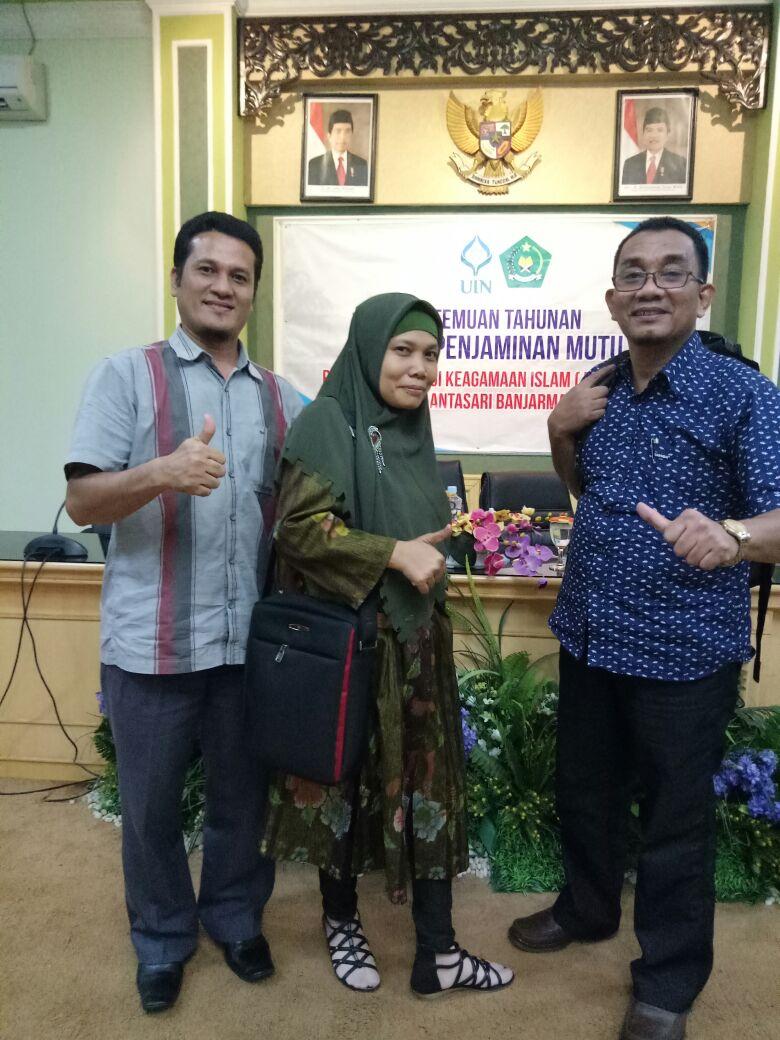 Pertemuan Tahunan Penjaminan Mutu Se-PTKIN pada tgl 28-30 November Tahun 2017 di Banjarmasin