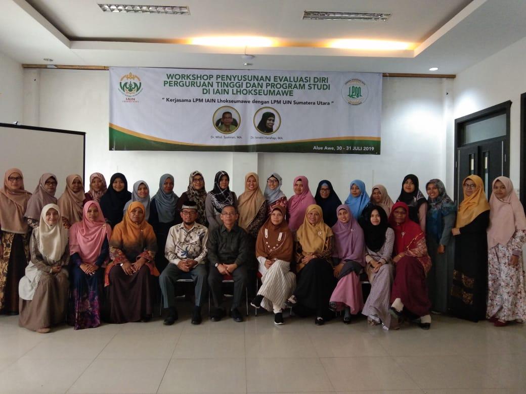 Workshop Penyusunan Evaluasi Diri Kerjasama IAIN Lhokseumawe dan UIN SU Medan
