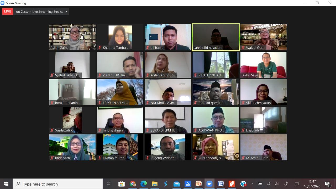 Webinar Sharing Pengalaman Evaluasi Pembelajaran Daring PTKIN: Terus Melangkah